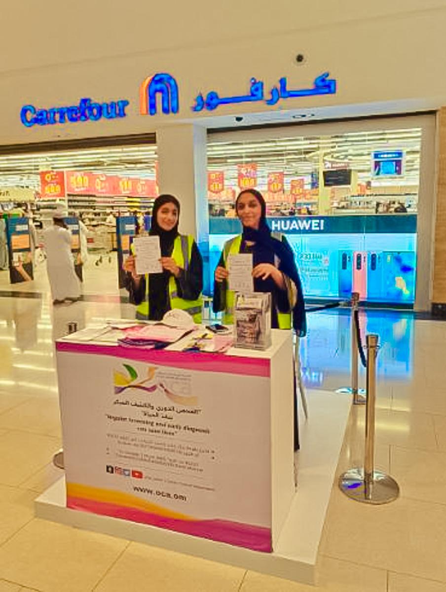 OCA volunteering in malls